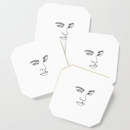 Face one line illustration - Ethel Coaster