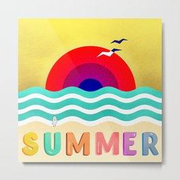 037 HOT SUMMER on the beach Metal Print