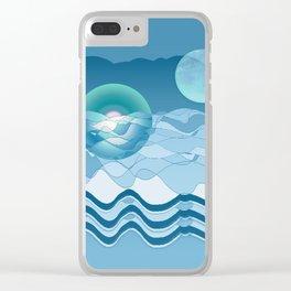 Sea Symphony in BLUE Clear iPhone Case