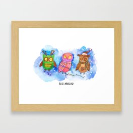 Christmas Owlies v2.0 Framed Art Print