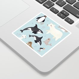 Nursery Arctic Animals POSTER Sticker