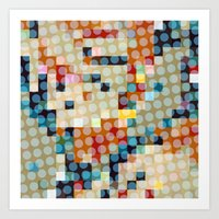 dots meet pixels Art Print