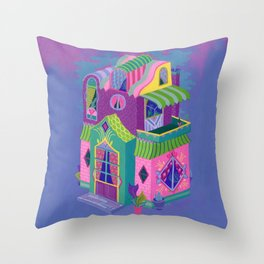 Balcony House Throw Pillow