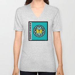 Fruit of the Spirit, Gentleness (Sea Blue) Unisex V-Neck