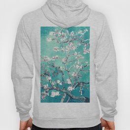 Vincent Van Gogh Almond Blossoms Turquoise Hoody