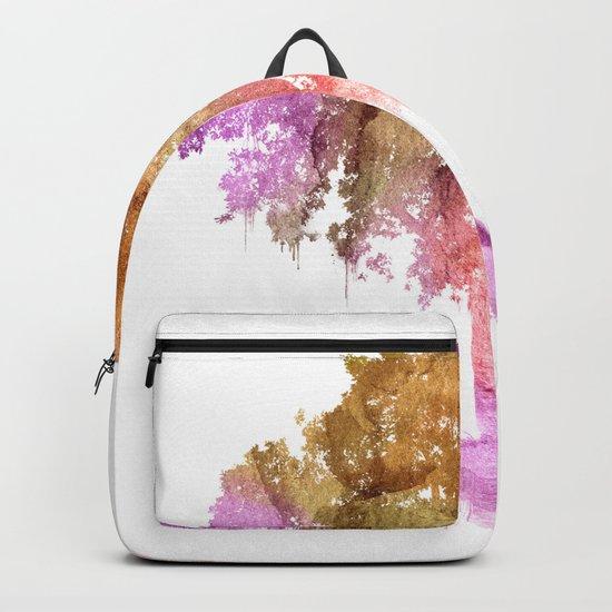 Watercolor tree painting Backpack