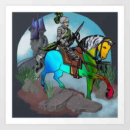 Unicorn Tamer Art Print