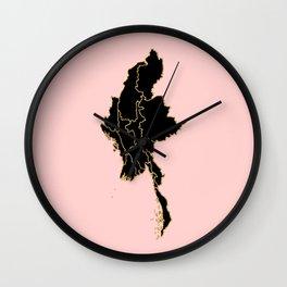 Myanmar map Wall Clock