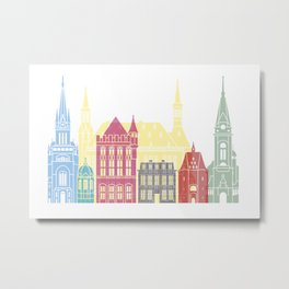 Aachen skyline pop Metal Print