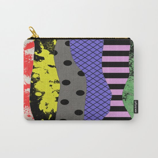 Pick A Pattern - Abstract, Textured, Stripes, Polka Dot, Grid, Paint Splatter Carry-All Pouch