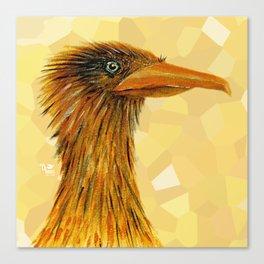 The Smug Crane Canvas Print