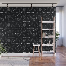 Witchy Stuff Black Wall Mural