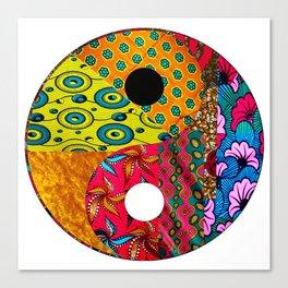 Gold & Pink Yin & Yang Canvas Print