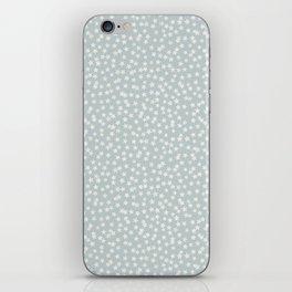 SILVER STARS CONFETTI iPhone Skin