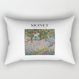 Monet - The Artist's Garden at Giverny Rectangular Pillow
