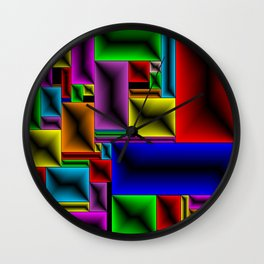 ColorBlox - Hammered Wall Clock