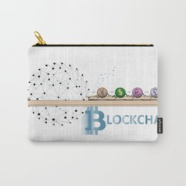 BLOCKCHAIN Carry-All Pouch
