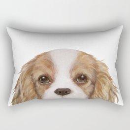 Cavalier King Charles Spaniel Dog illustration original painting print Rectangular Pillow
