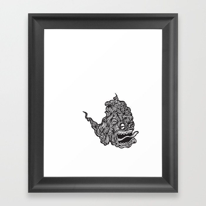 Hairy Smoke Bastard #1 Framed Art Print