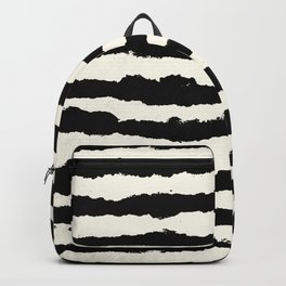 Horizontal Ivory Stripes Backpack