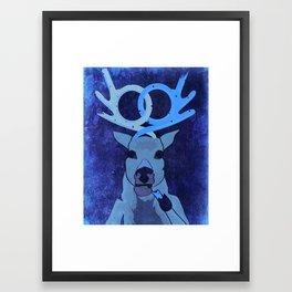 pretzel deer Framed Art Print