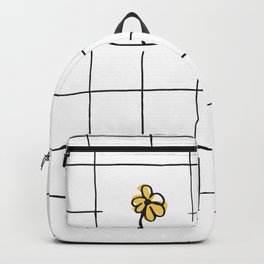 yellow flower pattern Backpack