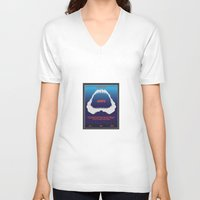jaws V-neck T-shirts featuring Jaws by GlennTKD