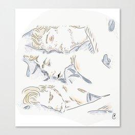 Isak sleeping Canvas Print