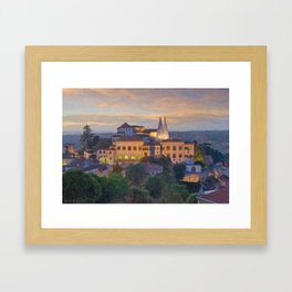 Sintra Royal Palace. Lisbon, Portugal Framed Art Print