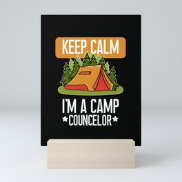 Funny Camp Councelor print Gift For Camping And Outdoor Fans Mini Art Print