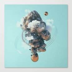 Erupted Island Canvas Print