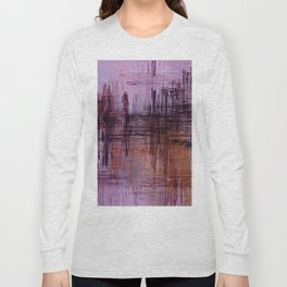 Purple / Violet Painting in Minimalist and Abstract Style Long Sleeve T-shirt