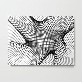 black mesh Metal Print