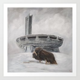 The Lone Musk Ox Art Print