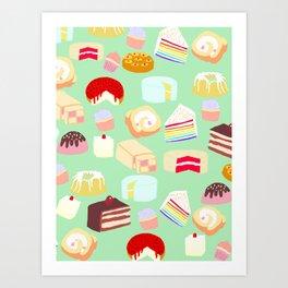 Cakes for days Art Print