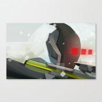 borderlands Canvas Prints featuring Borderlands - Zer0 by BEN Olive
