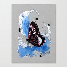 Butterfly III ink by carographic, Carolyn Mielke Canvas Print