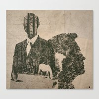 true detective Canvas Prints featuring true detective by Alba Blázquez