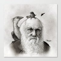 darwin Canvas Prints featuring Darwin by Doodle of Boredom