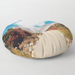 Mt Rainier in Autumn Floor Pillow