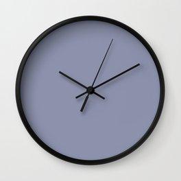 Gray-Blue - solid color Wall Clock