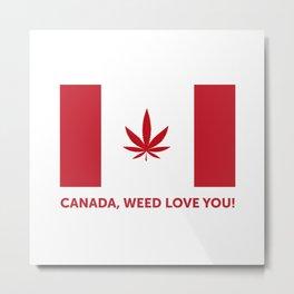 Canada legalization Metal Print