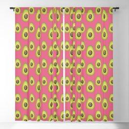 Light Pink Avocado Pattern Blackout Curtain
