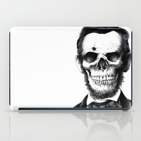 lincoln iPad Cases featuring Lincoln Skull by BIOWORKZ