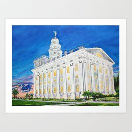 Nauvoo Illinois LDS Temple Art Print