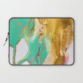 beautiful abstract art with fluid liquid paint Laptop Sleeve