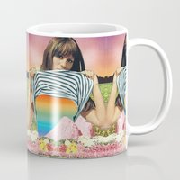 erotic Mugs featuring Internal Rainbow II by Mariano Peccinetti