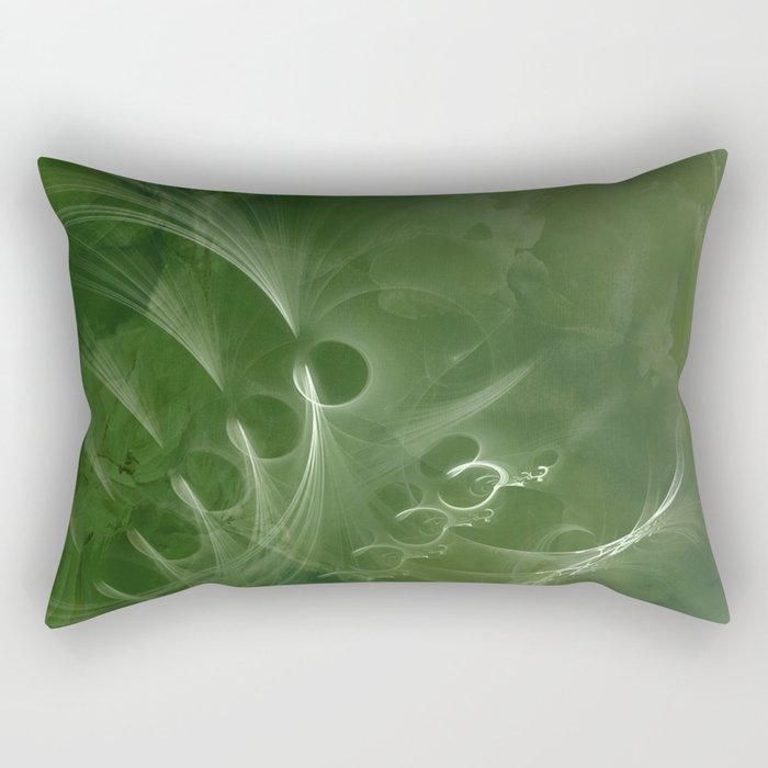 Abstract Green Marble Rectangular Pillow