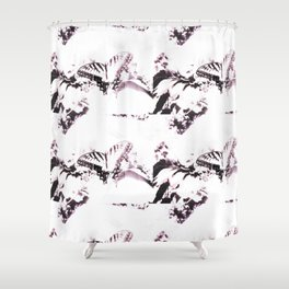 Faded Butterfly Lilac Shower Curtain