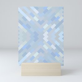 sierra - soft shades of pale blue abstract pattern Mini Art Print